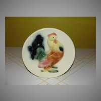 Royal copley Rooster Wall Pocket/vase - b40