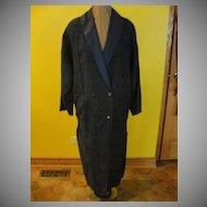 Big Blue 80's Boxy shoulder Coat