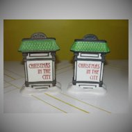 Dept 56 Christmas in the City sign #56-59609