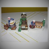 Dept 56 12 Days of christmas # French Hens 3 piece set