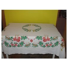 Candles and Bells Christmas Tablecloth - b33