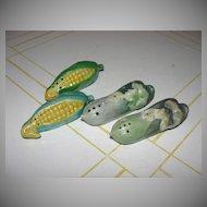 Vegan Corn and Squash Salt and Pepper Shakers - b32
