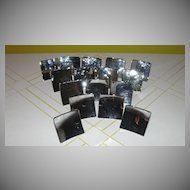 Shiny Chrome Art Deco Drawer Knobs - b41