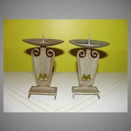 Arts and Crafty Pillar Candle Holders - b38