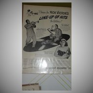 RCA Line-up of Hits for October 1947