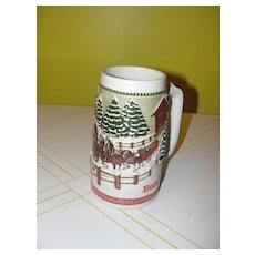 Team and Wagon with Covered Bridge 1984 Budweiser Stein - b43