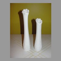 Westmoreland Paneled Grape Swing Vases - b42