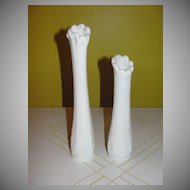 Westmoreland Paneled Grape Swing Vases - b42