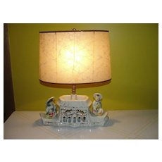 1950's Pagoda TV Lamp