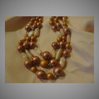 Peachy Keen 3-strand necklace - Free shipping