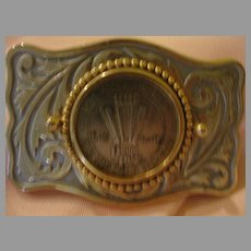 Vintage Vegas Union Plaza 1979 $1 Gaming Token in Belt Buckle