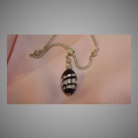 Italian glass Pendant on silver Chain - free shipping