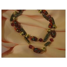 Daring Double Strand Red Necklace - free shipping