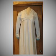 Synthetic 70's Wedding Dress