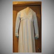 Synthetic 70's Wedding Dress