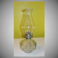 x'd out Kerosene Hurricane lamp - b49