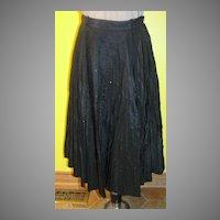 Stardust Black Taffeta Skirt