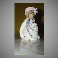 Blue Ribbon on Her Bonnet Figurine - b51