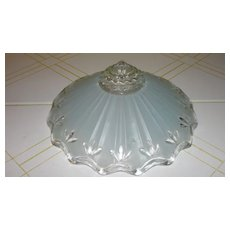 Baby Blue Glass Ceiling Shade - b53