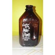 Dutchland Dairy 1/2 Gallon Brown Glass Milk Bottle