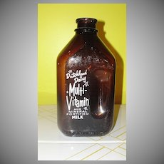 Dutchland Dairy 1/2 Gallon Brown Glass Milk Bottle