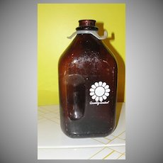 Quality Control 1/2 Gallon Brown Milk Bottle with Handle