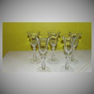 Cambridge Glass Regency Wine Glass Harp Stem #3575 - b51