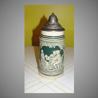 German .5 Liter Beer Stein - b50