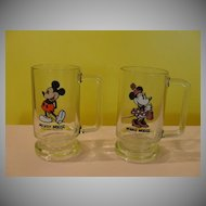 Walt Disney productions Mickey and Minnie Mouse Steins/mugs - b51