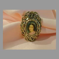 Gerry's Painted Lady in Fancy filigree Pin - Free shipping