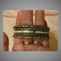 Bangle, Bangle, Bangle Trio of Bracelets.  Free shipping