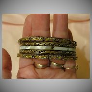 Bangle, Bangle, Bangle Trio of Bracelets.  Free shipping