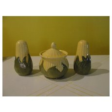 Shawnee Corn King Shakers and Drip Jar