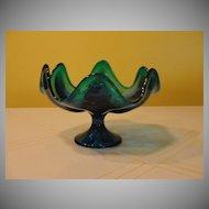 Epic Bluenique Viking Glass Compote