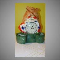 Dutch Couple with Windmill Lanshire Electric Shelf/mantle Clock