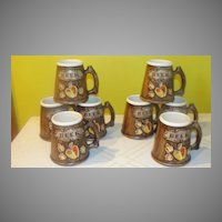 "Treasure Craft  Apple ""Fruit"" Beer Mugs"