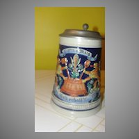 Gerz Regal Lion Beer Stein with Lid