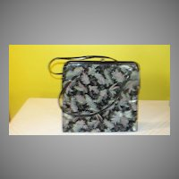 Ferns on Black Patent Handbag/purse