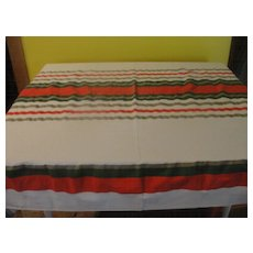 Striped Red and Green Tablecloth