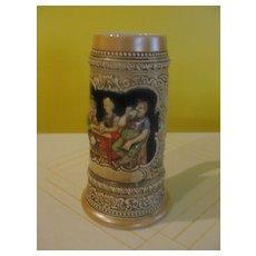 """""""Drink When it Tastes Good"""" Ceramarte Beer Stein"""