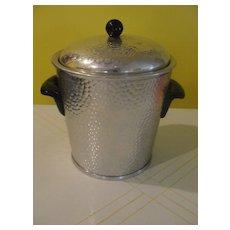 Mid-century Hammered Aluminum Ice Bucket Made in Spain