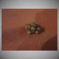 Avon Faux Pearl Cluster Ring  -  Free shipping