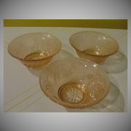 Indiana Glass Pink Sandwich Tiara Berry/cereal bowls