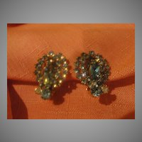 Glittering Blue Clip-on Earrings - free shipping