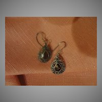 Teardrop J-hook Silver earrings - free shipping