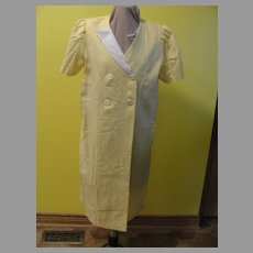 Hardly Mellow Yellow Linen Button Front Wrap Dress