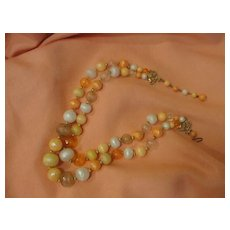 Peach Parfait Double Strand Necklace - Free shipping