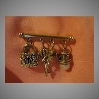 Cupid Charm on Bar Pin - Free shipping