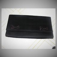 Stylemark Black Bowed Clutch Handbag/purse - b128