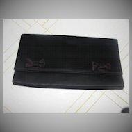Stylemark Black Bowed Clutch Handbag/purse - b128